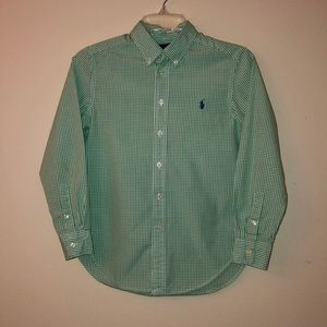 Ralph Lauren Gingham Shirt Size Medium 10-12